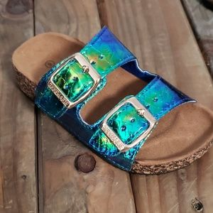 🔴 Kids Mermaid Slides green blue holographic